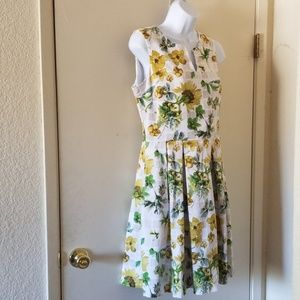 Julian Taylor white and yellow floral dress sz 12